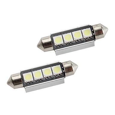 42mm 1.5W 4x5050 80LM SMD White Light LED Bulb for Car Interior Lamps CANBUS (2-Pack, DC 12V)
