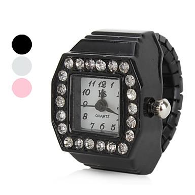 Kadın's Yüzük Saat Japonca Quartz imitasyon Pırlanta Alaşım Bant Işıltılı Siyah / Beyaz / Pembe - Beyaz Siyah Pembe Bir yıl Pil Ömrü / SSUO SR626SW