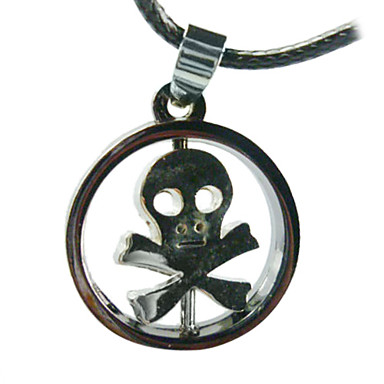 Skull with Ring Necklace