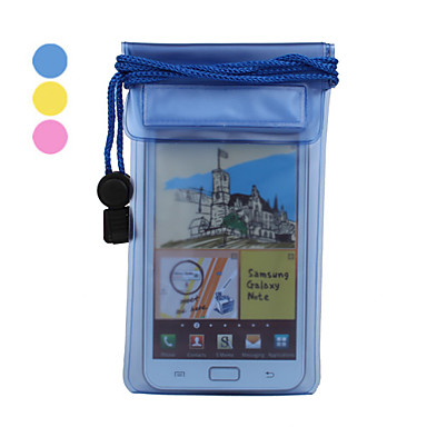 Translucent PVC Waterproof Pouch with Strap for iPhone 4, 4S and Samsung i9220 (Assorted Colors)