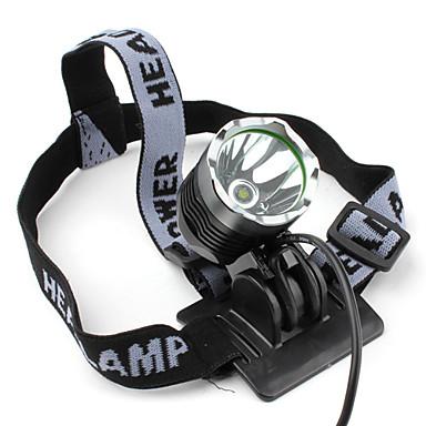 Linternas de Cabeza Faro Delantero LED 1200 lm 3 Modo Cree XM-L T6 con cargador Recargable Táctico