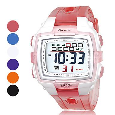 erkekler çok fonksiyonlu pu dijital otomatik spor saatler (çeşitli renk)