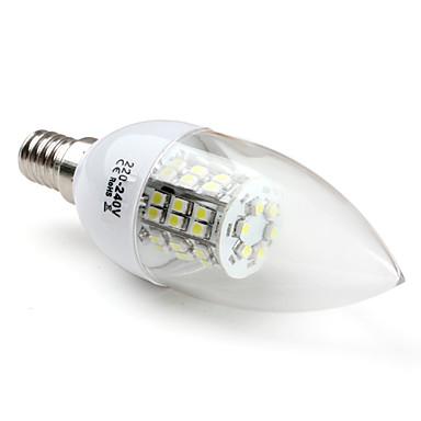 3W E14 Luces LED en Vela C35 48 SMD 3528 200 lm Blanco Natural V