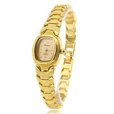 Dames Modieus horloge Armbandhorloge Kwarts Band Vintage Elegante horloges Goud Gouden