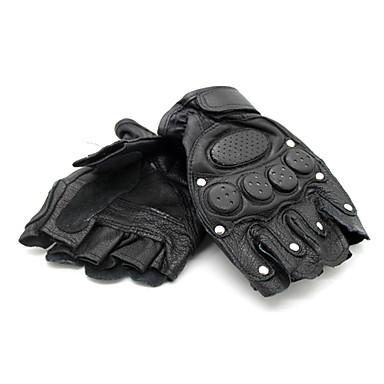 Leisure Sports Motobike Short Finger Leather Gloves