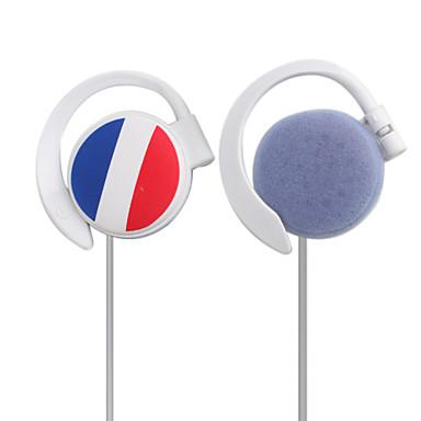 france estéreo bandeira desportivo on-orelha auscultadores (branco)
