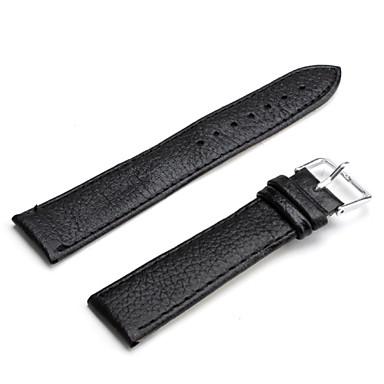 unisex correa de reloj de cuero de la PU de 20 mm (negro)