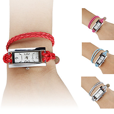 Women's PU Analog Quartz Bracelet Watch (Assorted Colors)