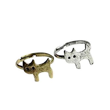 lindo gatito anillo de aleación de