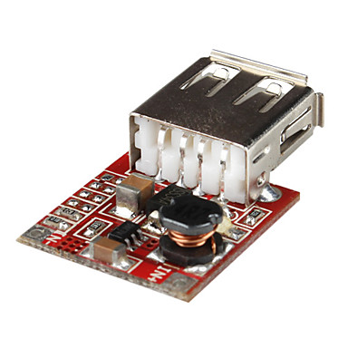 USB DC-DC Converter 3V to 5V 1A Adjustable Step-up Power Supply Module