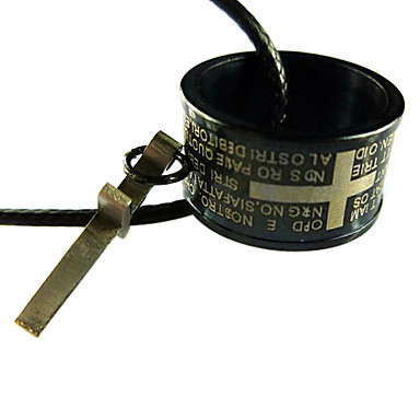 rundem Querschnitt Schrift graviert Halskette