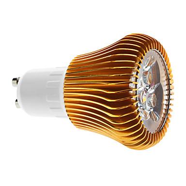 6W GU10 Spot LED MR16 3 COB 600 lm Blanc Chaud Gradable AC 100-240 V