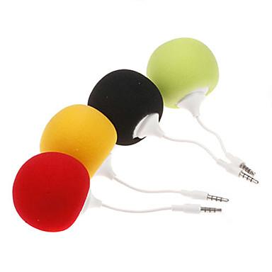 3,5 mm mode kreative Mini Music ballon Højtalere Sød Musik Kugle til mp3 mp4 CellPhone PC Tablet (assorteret farve)
