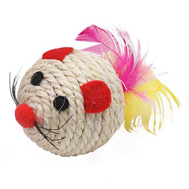 Sisal forma de bola rato estilo raspadinha Brinquedos do gato