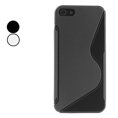 S Shape Soft Case for iPhone 5/5S (Assorted Colors)