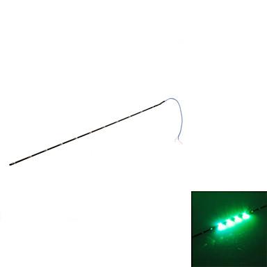 30cm 11-LED Green Light Blinkende Strip Lampe til bil (DC 12V)