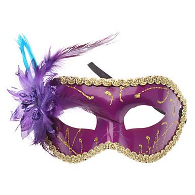 Venetian Flower Half Mask for Masquerade Party (Random Color)