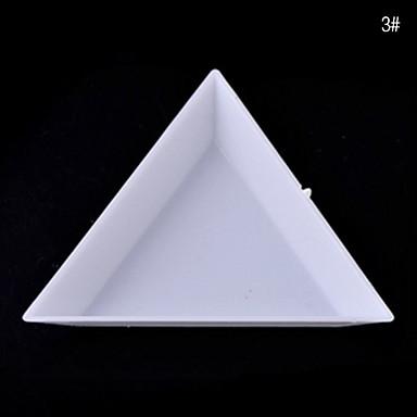 1pcs Outros Triangular Nail Art Kit Caixa de armazenamento