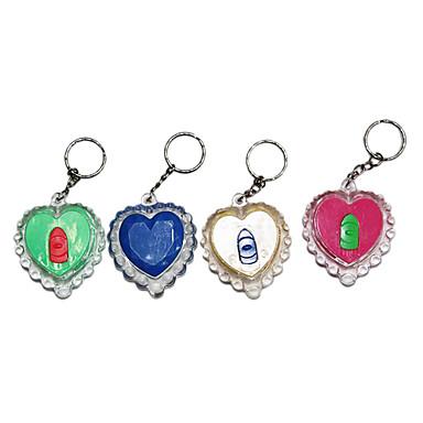 açık Mini anahtarlık ve sevgi dolu kalp feneri (rastgele renk)