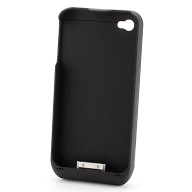 Ekstern batteripakke med bakkdeksel til iPhone 4 / 4S med USB-utgang (3000 mAh)