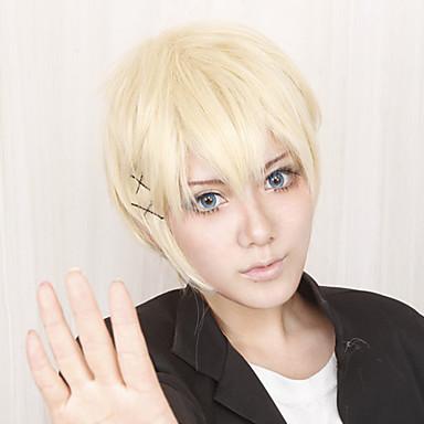 Cosplay Perukları Inu Boku SS x Banri Watanuki Anime Cosplay Perukları 30 CM Isı Dirençli Fiber Erkek