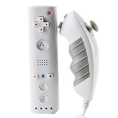מיני MotionPlus מרחוק וNunchuk Controller עבור wii / wii u (לבן)