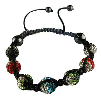 Gradientramp Zircon Beads Fabric Bracelet