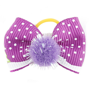 Cat Dog Hair Accessories Hair Bow Dog Clothes Purple Red Green Blue Pink Terylene Costume For Pets