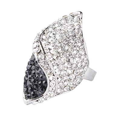 rhinestone vendimia forma de diamante tachonado anillo