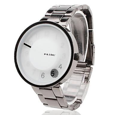 Unisex Steel Analog Quartz Wrist Watch (Silver)