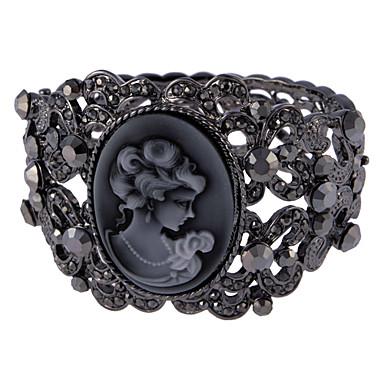Young Lady Image Gem Vine Decoration Bracelet
