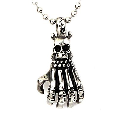 Eruner®Titanium Steel Skeletal Hand Shaped Necklace