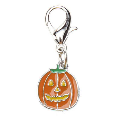 Pumpkin Lantern Style Collar Charm for Dogs Cats