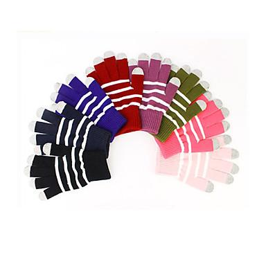 Gants sombres de l'écran tactile de laine