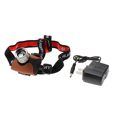 680 Focus Adjustable Zoom 7W 3-Mode Cree XR-E Q5 LED Rechargeable Headlamp (240LM, AC Charger)