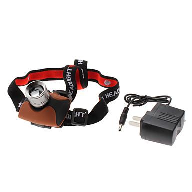 680 초점 조정 가능한 급상승 7w 3 형태 크리 사람 XR-E Q5는 (240LM, AC 충전기) 충전 헤드 램프를지도했다