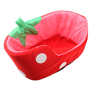 Bonito estilo Strawberry Pet Bed (Rojo, S-L)