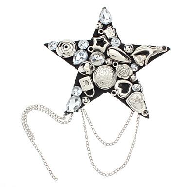 z&moda x® charretera estrella totalmente enjoyada broche