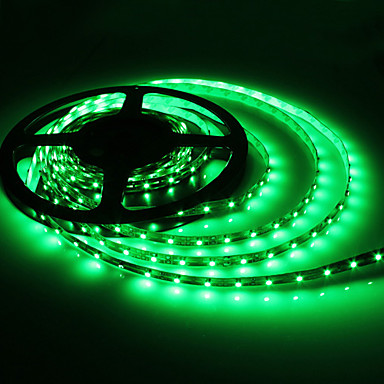 5m 5w 300x3528 SMD vert clair FLEXIBLE À LED lampe (DC 12V)