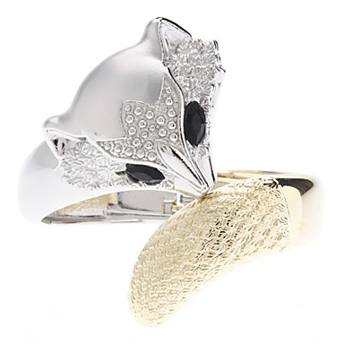 z&x® zorro plateado oro tachonado con diamantes pulsera