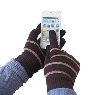 Rayures colorées de laine Gants écran tactile (couleurs assorties)