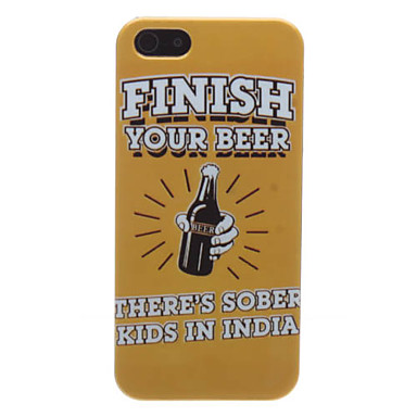 Beer Pattern Hard Case for iPhone 5/5S