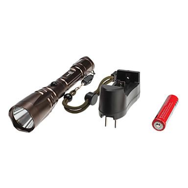 huomingwei 1220 5 modos del CREE XM-l t6 set linterna led (1000lm, 1x18650, cobre)