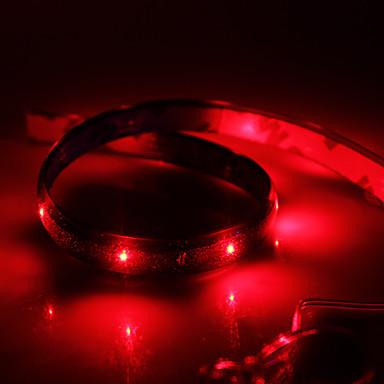 0.6m Esnek LED Şerit Işıklar 24 LED'ler Kırmızı Su Geçirmez 12 V / IP65