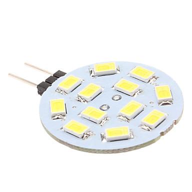 170 lm G4 Luminárias de LED  Duplo-Pin 12 Contas LED SMD 5630 Branco Natural 12 V / # / #