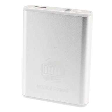 Intelligent Power Bank for Portable Device (11200 mAh, Silver)