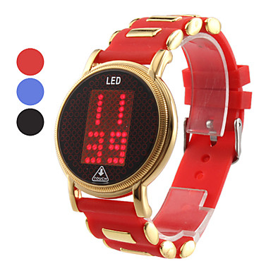 Unisex Touch Screen Rubber Digital LED Wrist Fashion Watch (Assorted Colors)