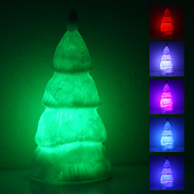 Christmas Tree muotoinen värikäs LED Night Light (3xAG13)