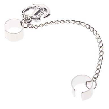 Z&X®  Silver Anchor Pattern Earrings