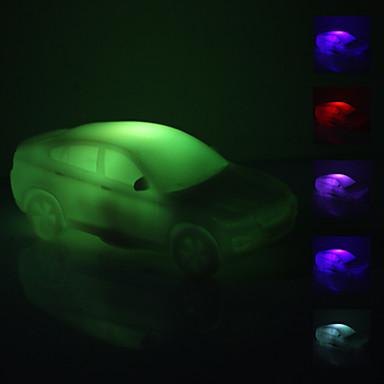 araba şeklindeki renkli led gece lambası (3xag13)